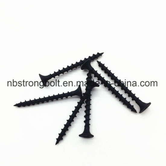 "Phil Bugle HD Fine Thread Drywall Screws Black Phos # 6X2 ""/ China autoperforante tornillo fábrica, China tornillo fábrica"